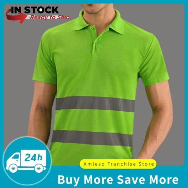 amleso Reflective T-Shirt Safety Quick Dry High Visibility Short Sleeve Vary L-XXXL