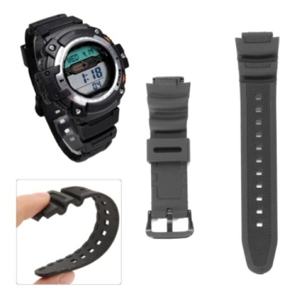 Black Replacement Rubber Watchband Wristband Strap For Digital Watch AQ-S810W SGW-300H SGW-400H Malaysia