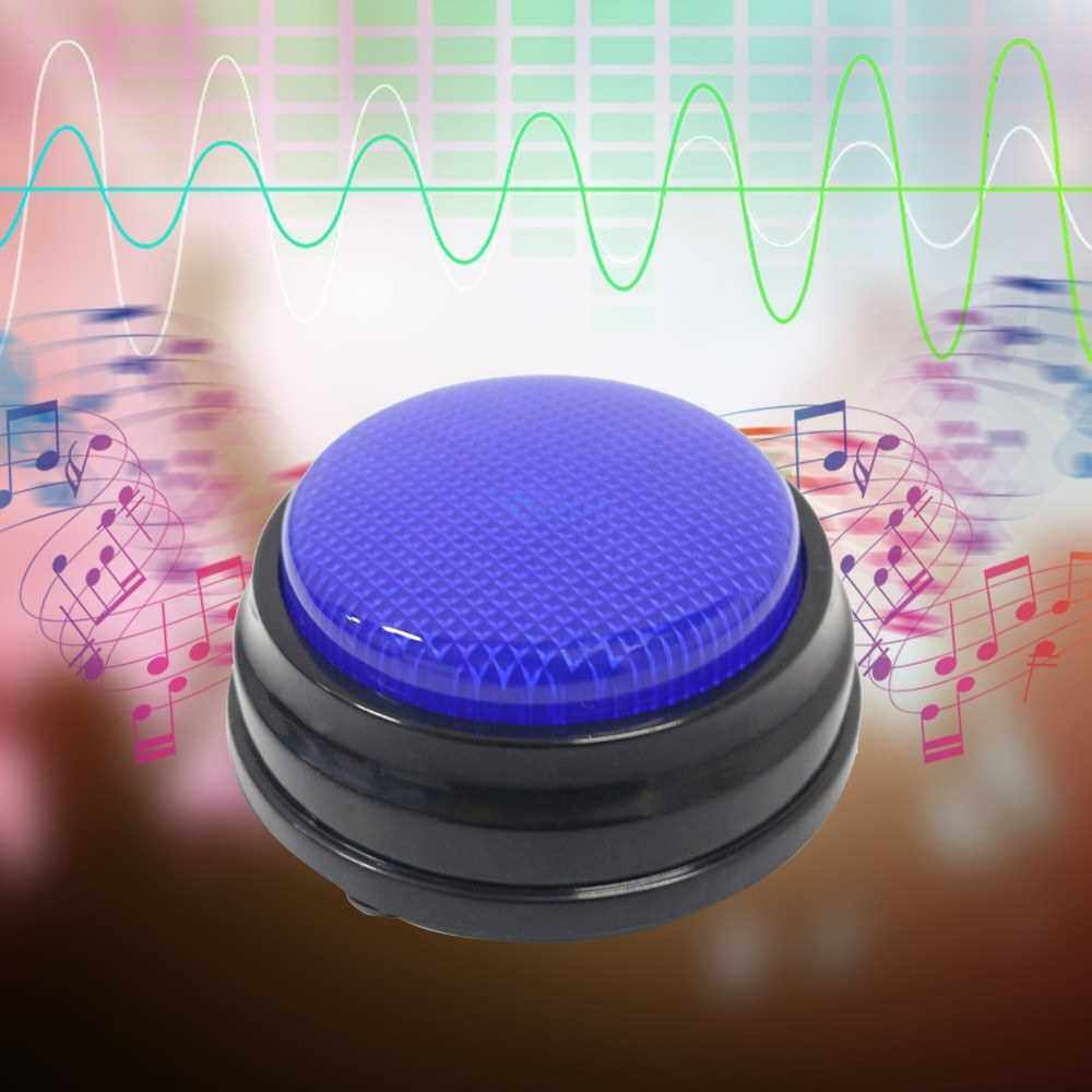 Recordable Talking Button with Led Function Learning Resources Answer Buzzers Blue
