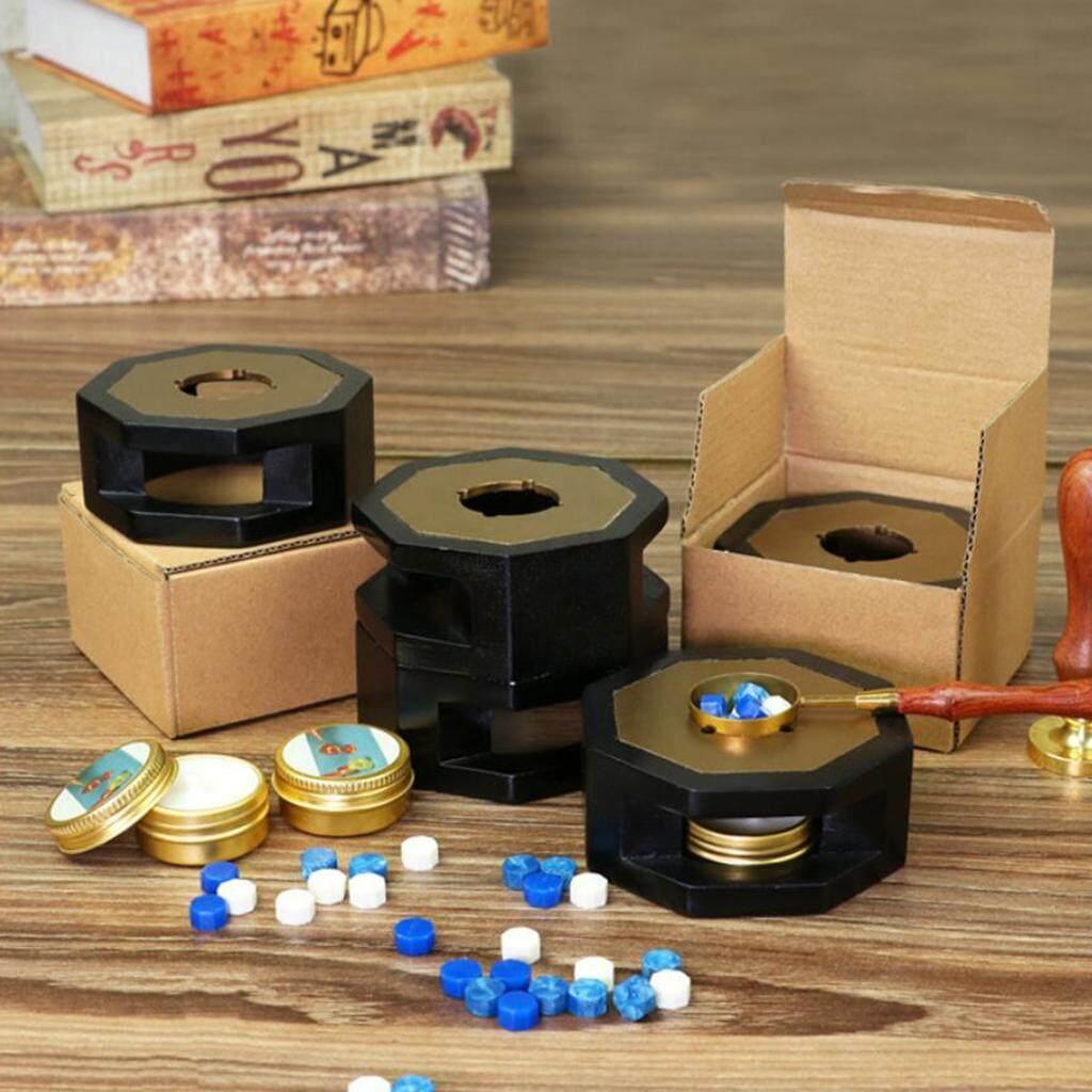 BolehDeals Wooden Wax Melting Furnace Stove, Wax Stick Wax Bead Wax Seal Dia 8cm