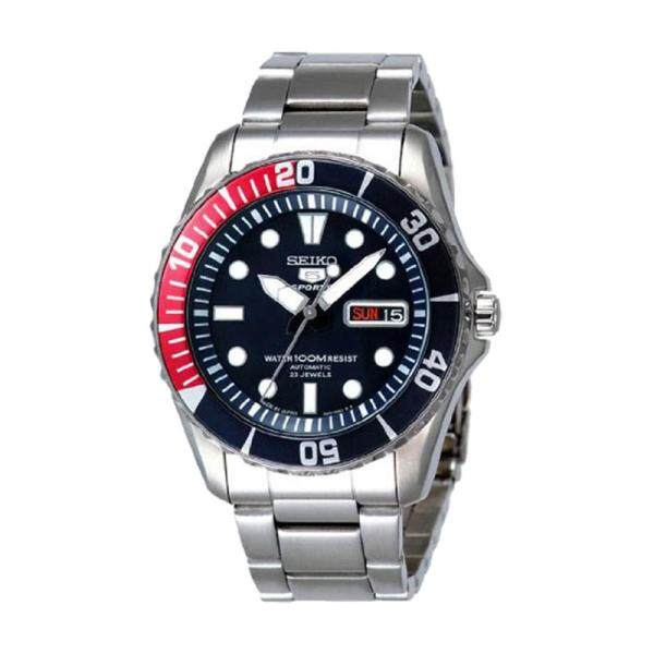 Seiko Mens 5 (Japan Made) Sports Automatic Silver Stainless Steel Band Watch SNZF15J1 (watch for man / jam tangan lelaki / men watch / watch for men) Malaysia