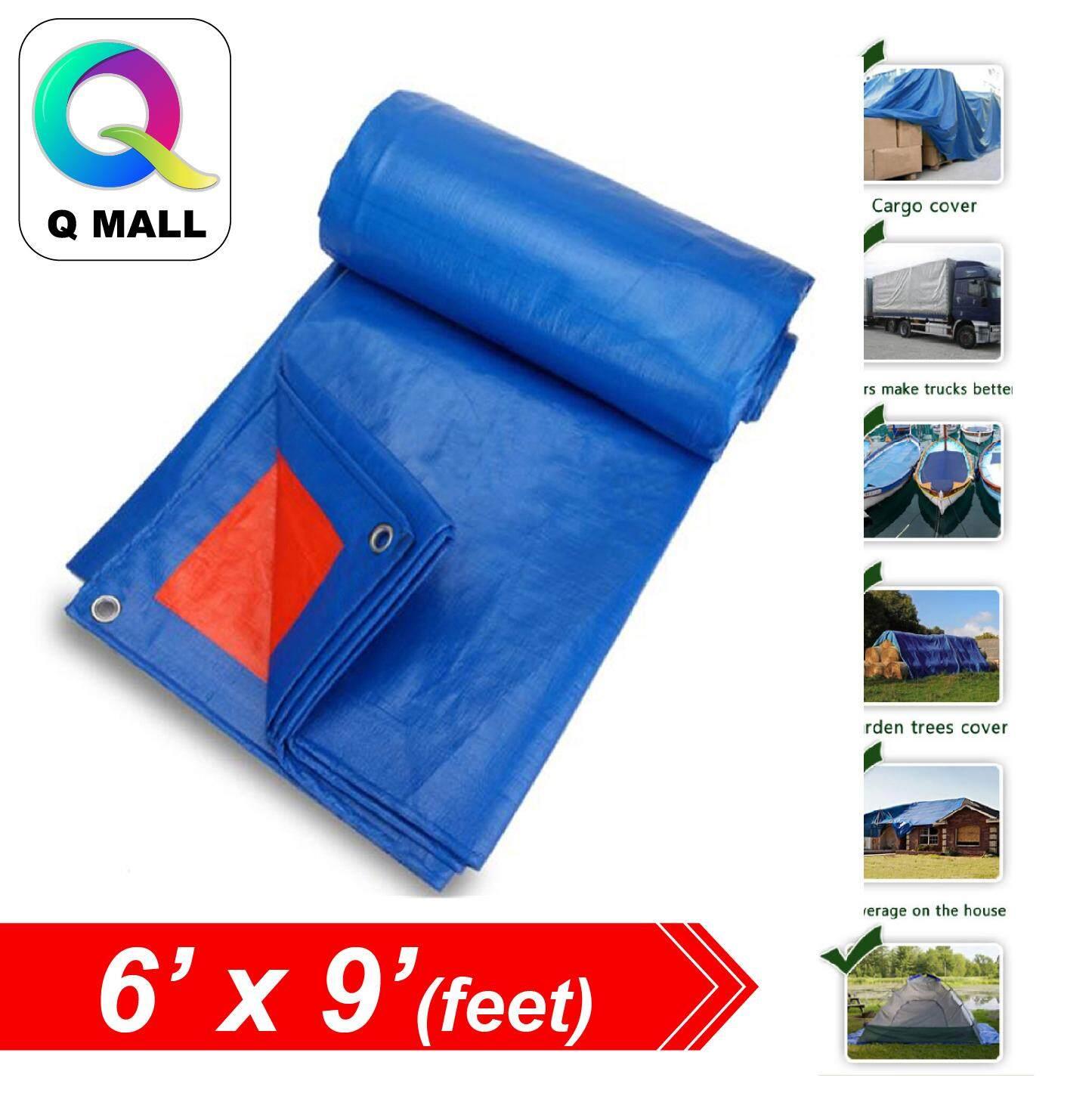 QMALL 6 X 9 Waterproof Ready Made Tarpaulin Sheet Canvas