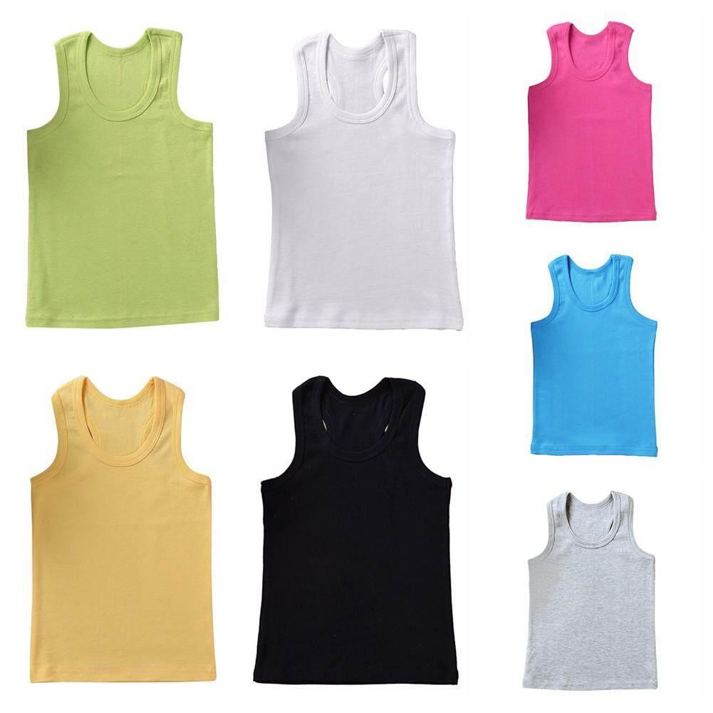 mybabyme 1Pc Baby Boys Girls Vest Undershirts Kids Singlet Cotton Underwear  Summer Children Tops 1-6 Year | Lazada