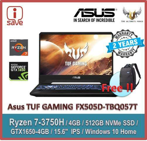 ASUS Gaming Laptop TUF FX505D-TBQ057T  15.6  FHD IPS  Black (Ryzen 7 3750H,4GB,512GB,GTX1650,Win10) Malaysia