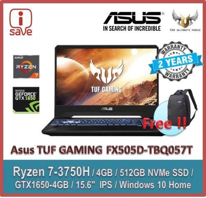 ASUS Gaming Laptop TUF FX505D-TBQ057T  15.6  FHD IPS  Black (Ryzen 7 3750H,4GB,512GB,GTX1650,Win10) Malaysia
