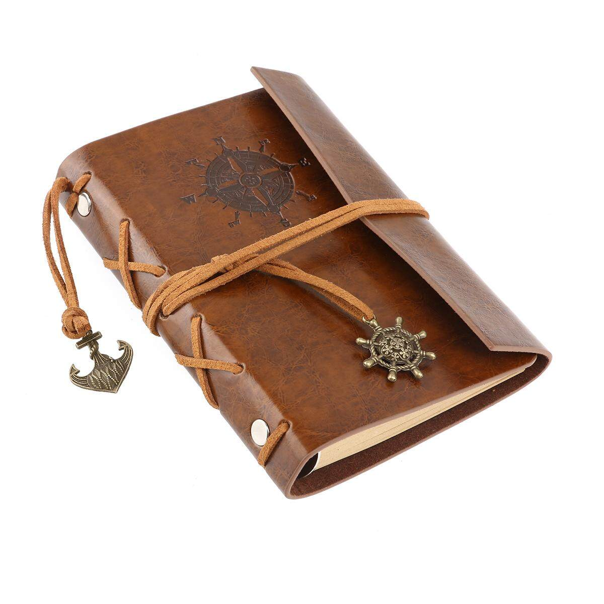 Mua Vintage Traveller PU Cover Loose-leaf String Notebook Notepad Travel Journal Diary Jotter