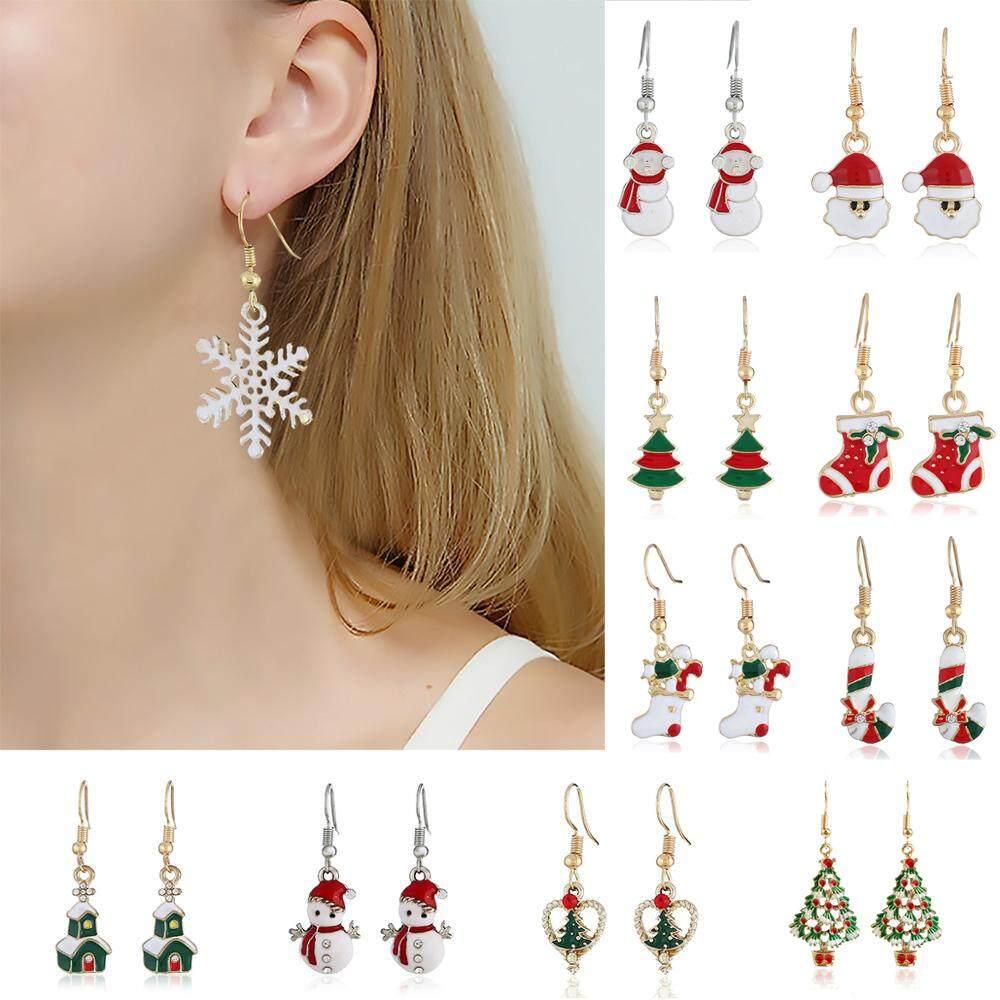 Christmas Earrings Beautiful Christmas Santa Earrings