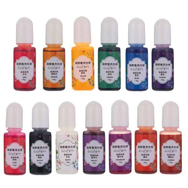 Giá bán 13 Màu Epoxy UV Nhựa Màu Nhuộm Chất Lỏng Epoxy Pigment Nhựa Colorant Fading Resistance10ml Mờ