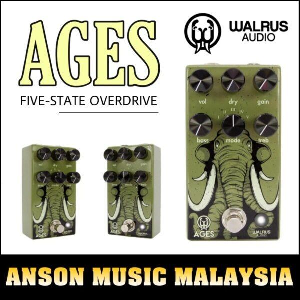 Walrus Audio Ages Five-State Overdrive Pedal Malaysia