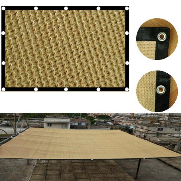 [Customizable] Thicken Beige Sun Shade Sail Gate Fence Outdoor Privacy Screen Fence Awning Fence for Backyard HDPE UV Block Net Garden Patio Canopy Rectangle Made To Order