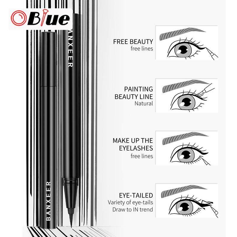 Oblue Wanita Eyeliner Cair Tahan Air Kecantikan Tahan Lama Mata Pensil Alis Peralatan Make Up