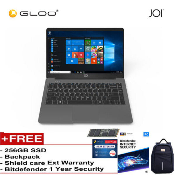JOI Book 150 – AD-L150DG/AD-L150G Cel N4100, 4+32GB, 14 FHD, W10 Home {Free 256GB SSD + Anti-Theft Backpack - Blue + Bitdefender 1Yr + Shieldcare 1 Yr Extended Warranty } Malaysia