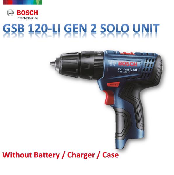 BOSCH 12V GSB 120-LI CORDLESS IMPACT DRILL SOLO UNIT TANPA BATERI / PENGECAJ / KOTAK [ GEOLASER ]