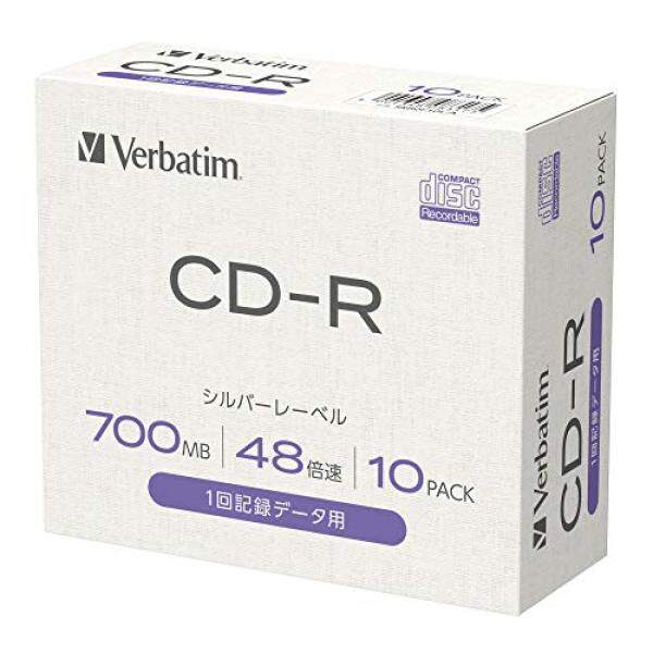 [Amazon.co.jp limited] Verbatim Verbatim data for CD-R 700MB 10 sheets 48x Silver Label 5mm plastic case with index cards SR80F10L-A