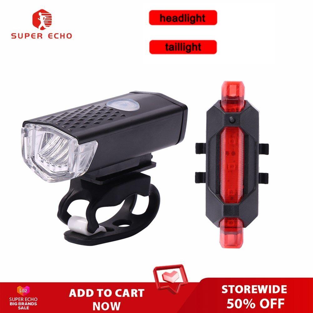 {ready สต็อก}super ไฟจักรยาน Led ไฟหน้าด้านหน้าโคมไฟ Usb ชาร์จได้ขี่จักรยานไฟท้ายอุปกรณ์.