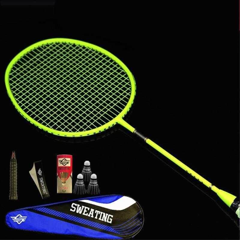 Single Racket Single Shot Full Carbon Small Black Shot Ultra Light Offensive Carbon Fiber Feather