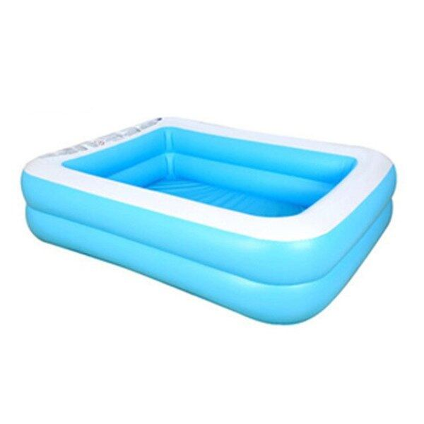 Inflatable Swimming Pool Adults Kids Outdoor Rectangle Bathing Tub Paddling Pool Lightweight Parts Little Child Accessories