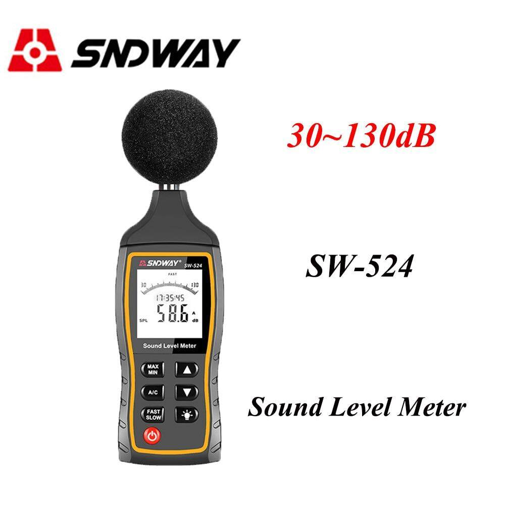Sndway Digital Sound Level Meter Noise Volume Measuring Instrument Decibel Monitoring Tester 30-130dB USB Data Storage Alarm