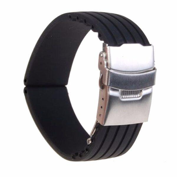 B 18mm/ 20mm/22mm/24mm reloj hombre Silicone Rubber Watch Strap Deployment Buckle Waterproof Band Womens watches Accessories Malaysia