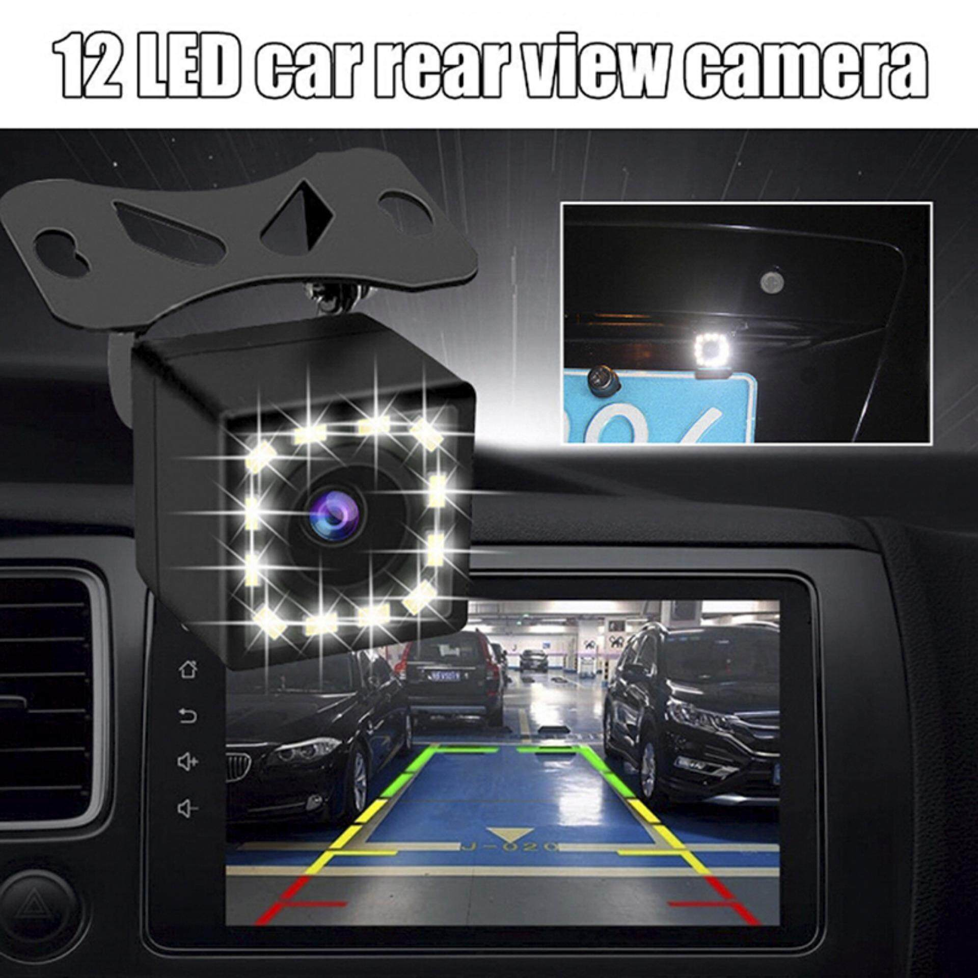 Mecola 12 LED HD ดูด้านหลังกล้อง Auto เซ็นเซอร์ติดท้ายรถยนต์กล้องการมองเห็นได้ในเวลากลางคืน