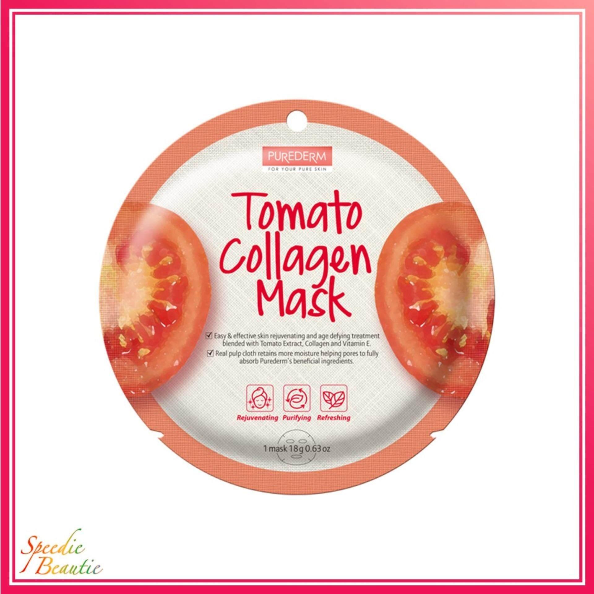 PUREDERM Tomato Collagen Mask 18g