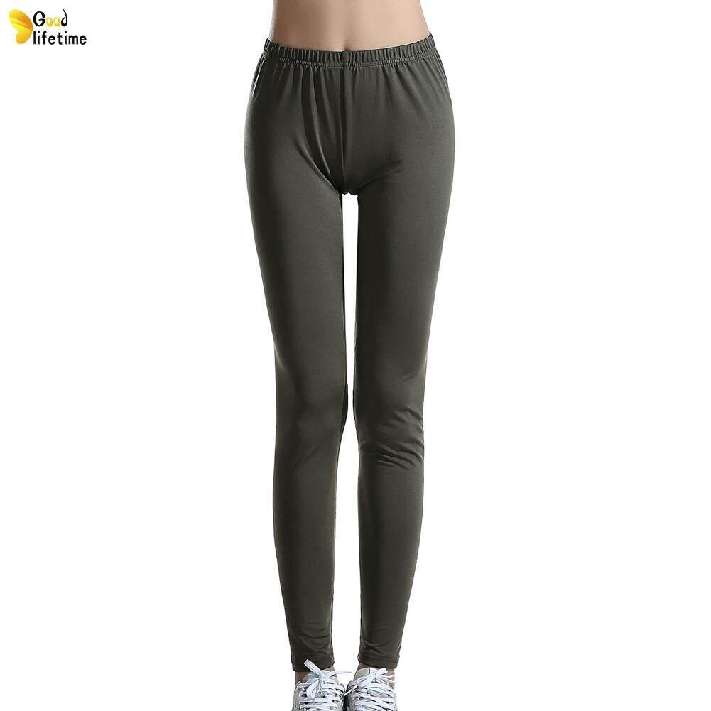 6f609c73ce4c5e GLT Ladies Leggings Solid Color Milk Silk Fit Slim Elastic Yoga Pants for  Sports