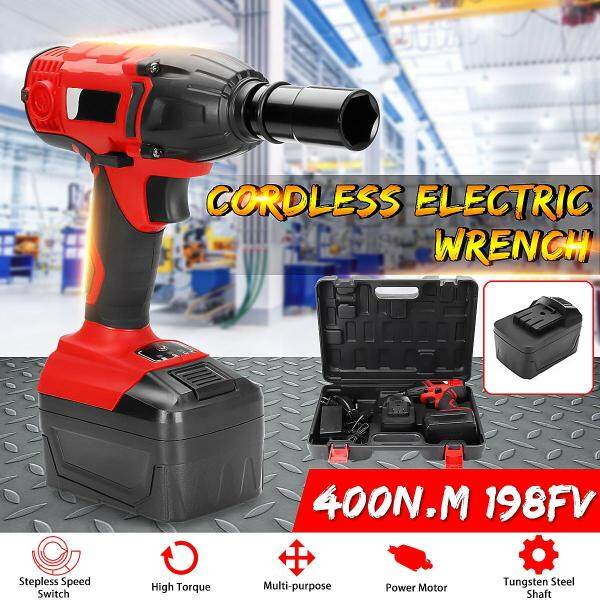 【Free Shipping】198FV 400N.M Cordless Motor Electric Wrench Rattle Car Torque Driver