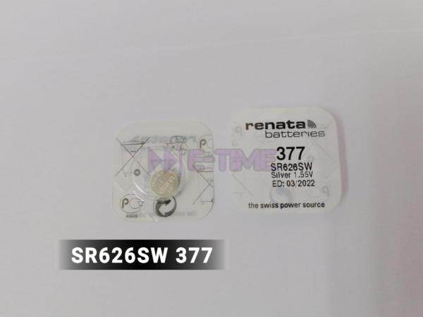 RENATA ORIGINAL BATTERY SR626SW (SWISS MADE) SILVER OXIDE SR626 377 1.55V Malaysia