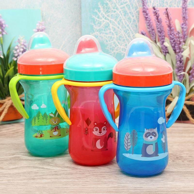 300 Ml Cho Bé Bình Sữa Cho Bé Hoạt Hình Mỏ Vịt Miệng Uống Nước Tay Cầm Sippy Cup Duy Nhất Khuyến Mại Hôm Nay