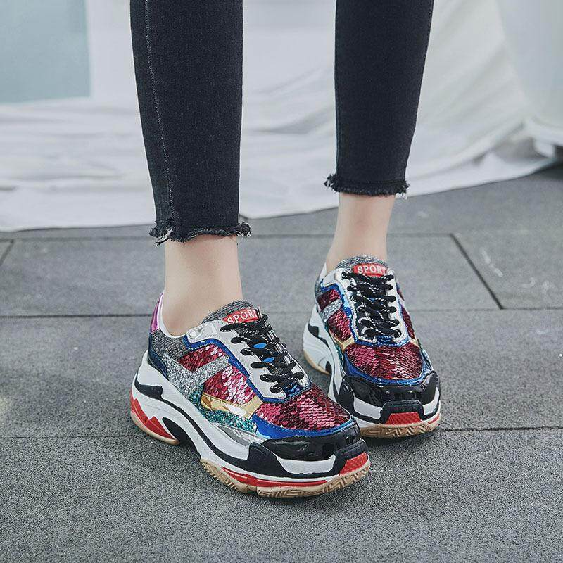 88208d2eec2b Harajuku style 2018 new wild women s shoes Korean version of the trend of  thickening inside the