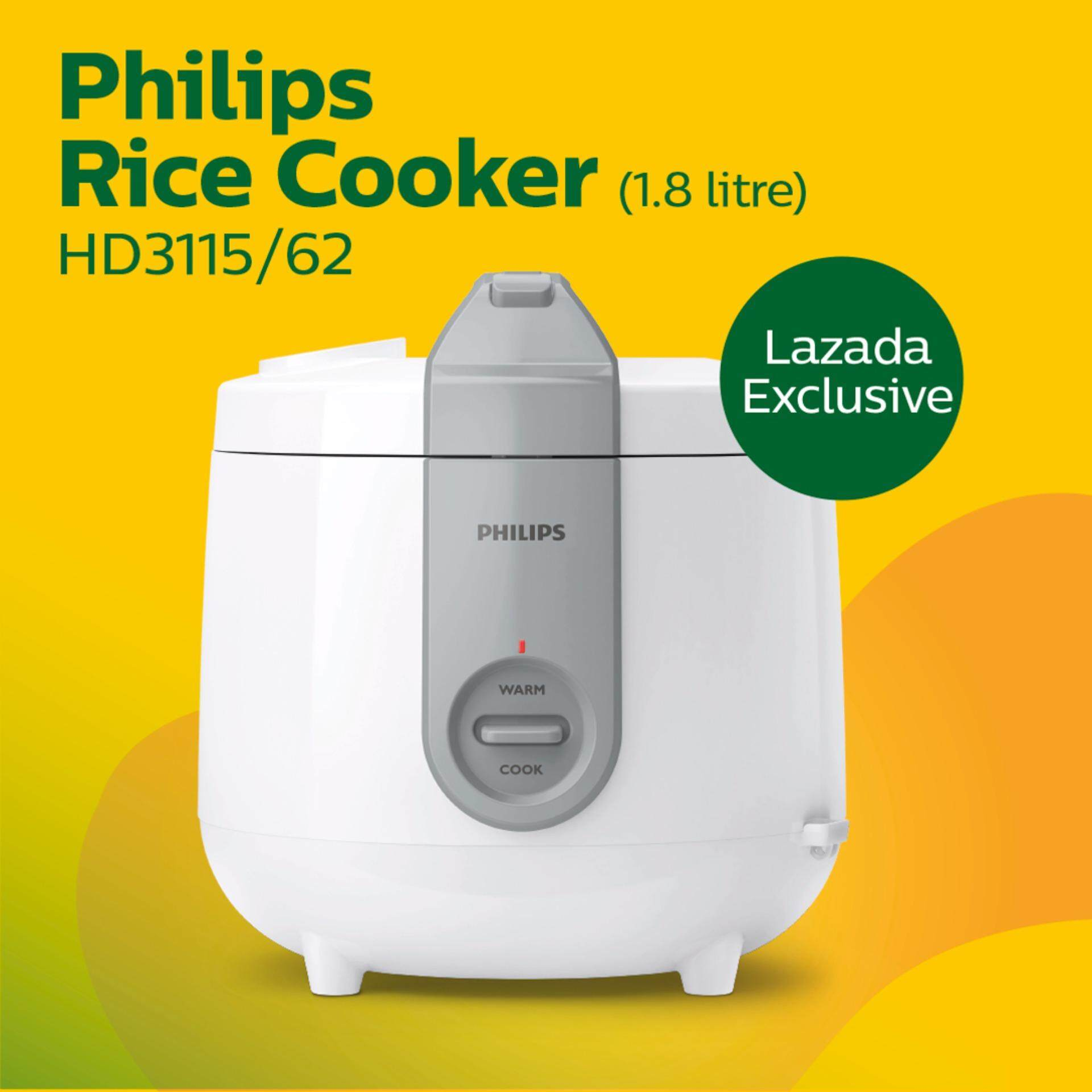 [new Lazada Exclusive] Philips Daily Collection Jar Rice Cooker Hd3115/62 By Lazada Retail Tech-Mall.