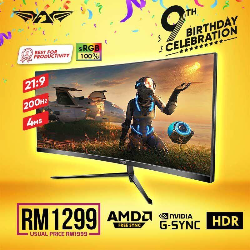 (11.11) Armaggeddon Pixxel+ Xtreme XC30WHD Gaming Monitors (200Hz/ 4ms /30  ) [Free HDMI Cable & DP Cable] Malaysia