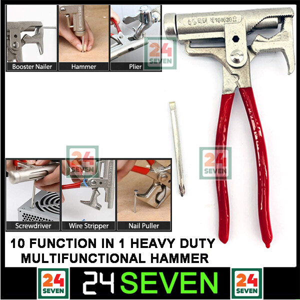 Heavy Duty Prime Hammer Plier Hammer Multifunctional Universal Hammer Screwdriver Pipe Wrench Clamp Pincer Nail Puller Hammer