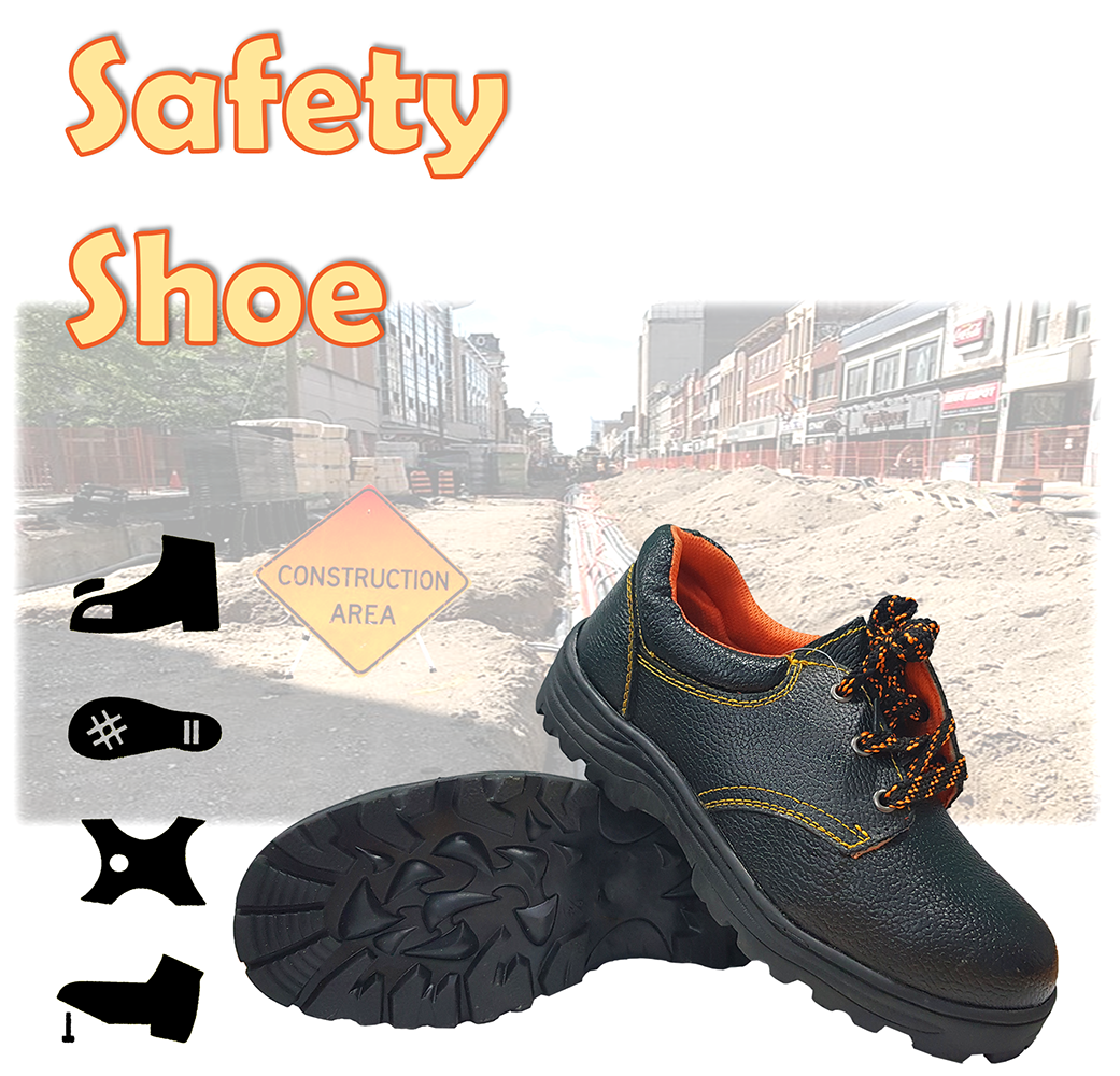 Low Cut Safety Shoe/FootWear with Steel Toe Cap & Steel Mid Sole