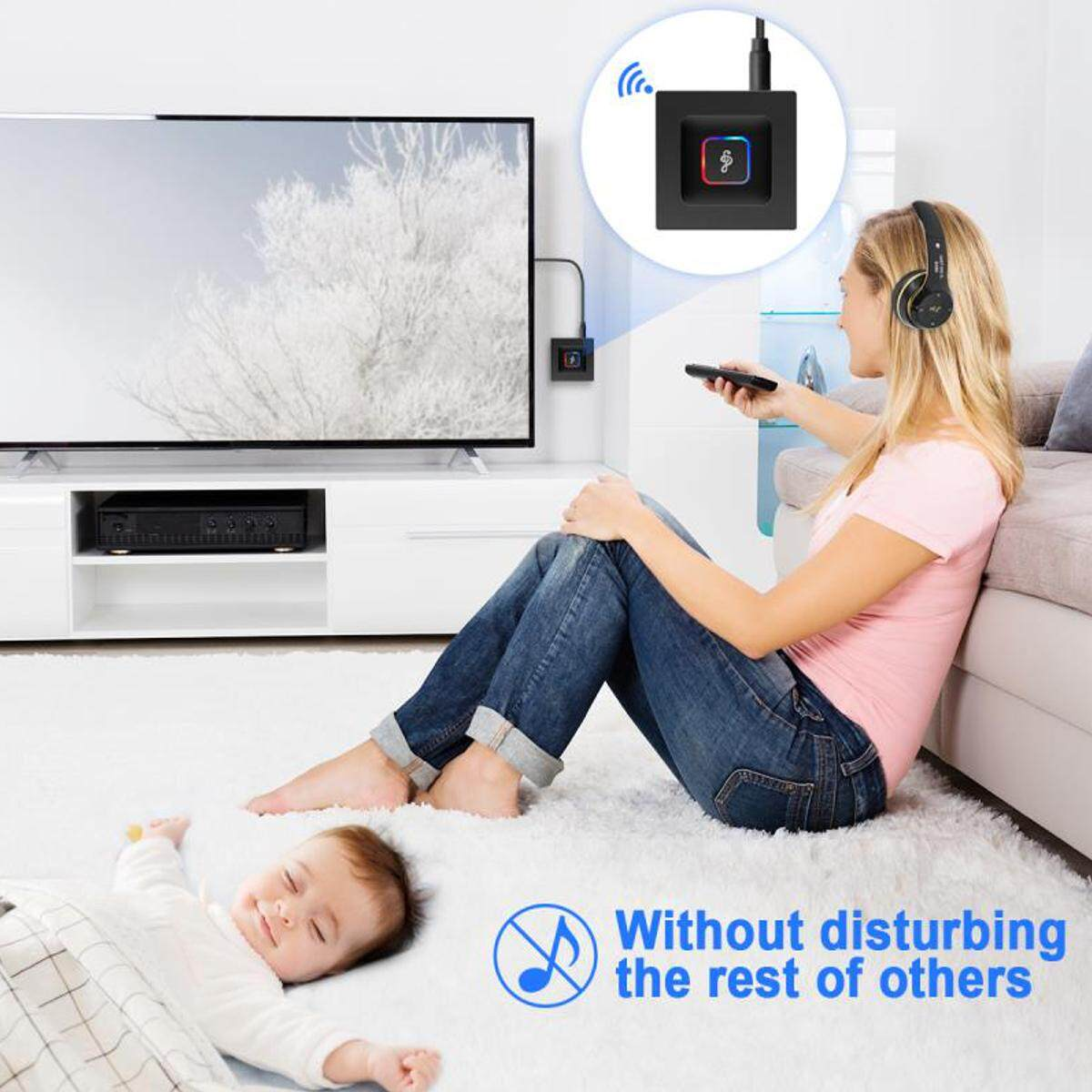 【Free Shipping + Flash Deal】2in 1 Bluetooth 4.2 Transmitter & Receiver Wireless A2DP for TV Stereo Audio Adapter