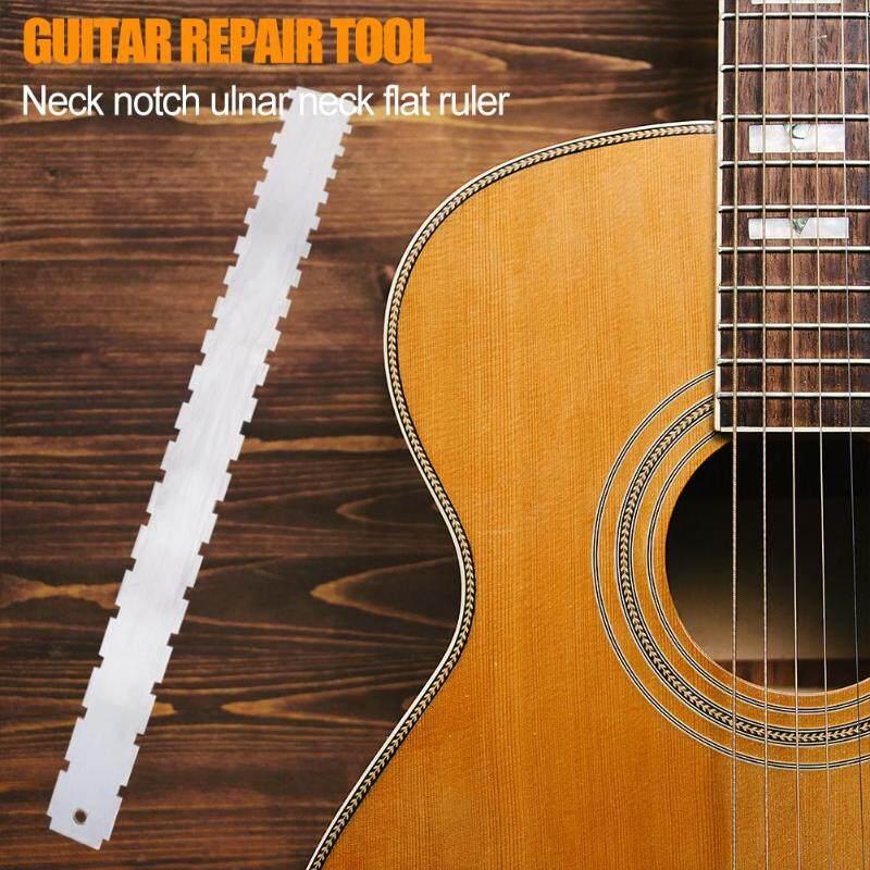 Đàn Guitar Cổ Kiểu Chữ V Thước Ngòi Thường Ván Trượt Ngón Tay Thẳng Edge Đo Dụng Cụ Sửa Chữa Đồng Hồ Thép Không Gỉ Thước