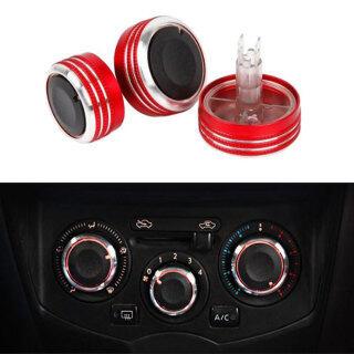 Phụ Kiện Xe Hơi Công Tắc Điều Khiển Điều Hòa Không Khí, AC Knob, Sửa Đổi 3 Pcs Cho Nissan Livina Tiida Geniss Sylphy NV200-Red thumbnail