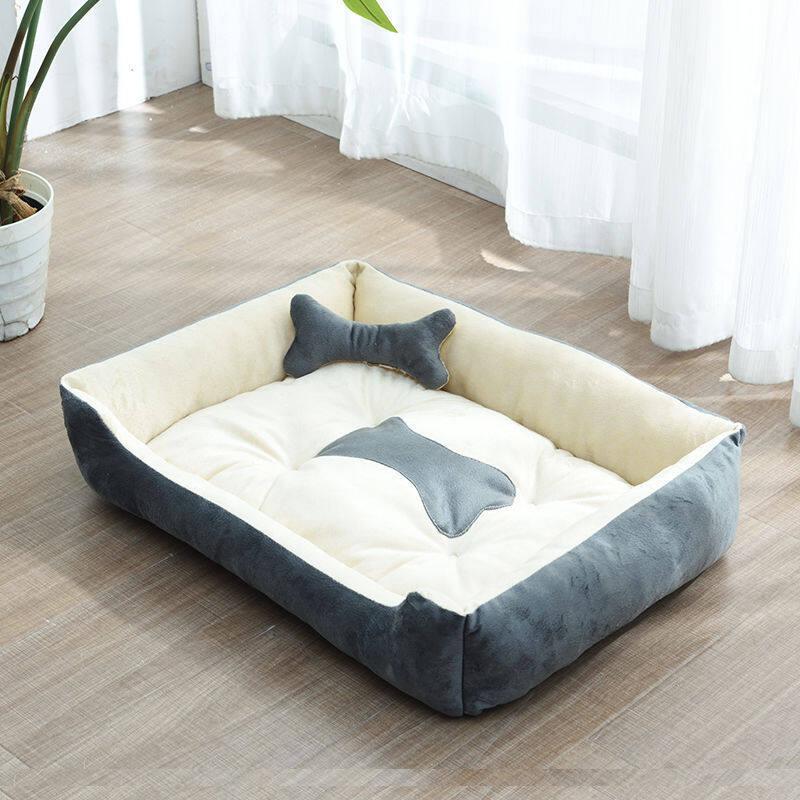 Chó chăn bông valazo phổ biến bốn mùa chó Golden Retriever chó Giường chó Mat chó nhỏ chó trung bình chó lớn lưới Mèo Đỏ