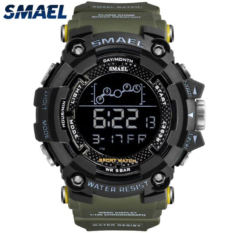 SMAEL Waterproof Sports Casual Mens Watches Top Brand Luxury Fashion LED Digital Electronic Military Chronograph Watch Malaysia