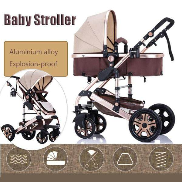 【Big Discount】Baby Stroller Pushchair Seat Foldable Portable Travel Carriage Infant Singapore