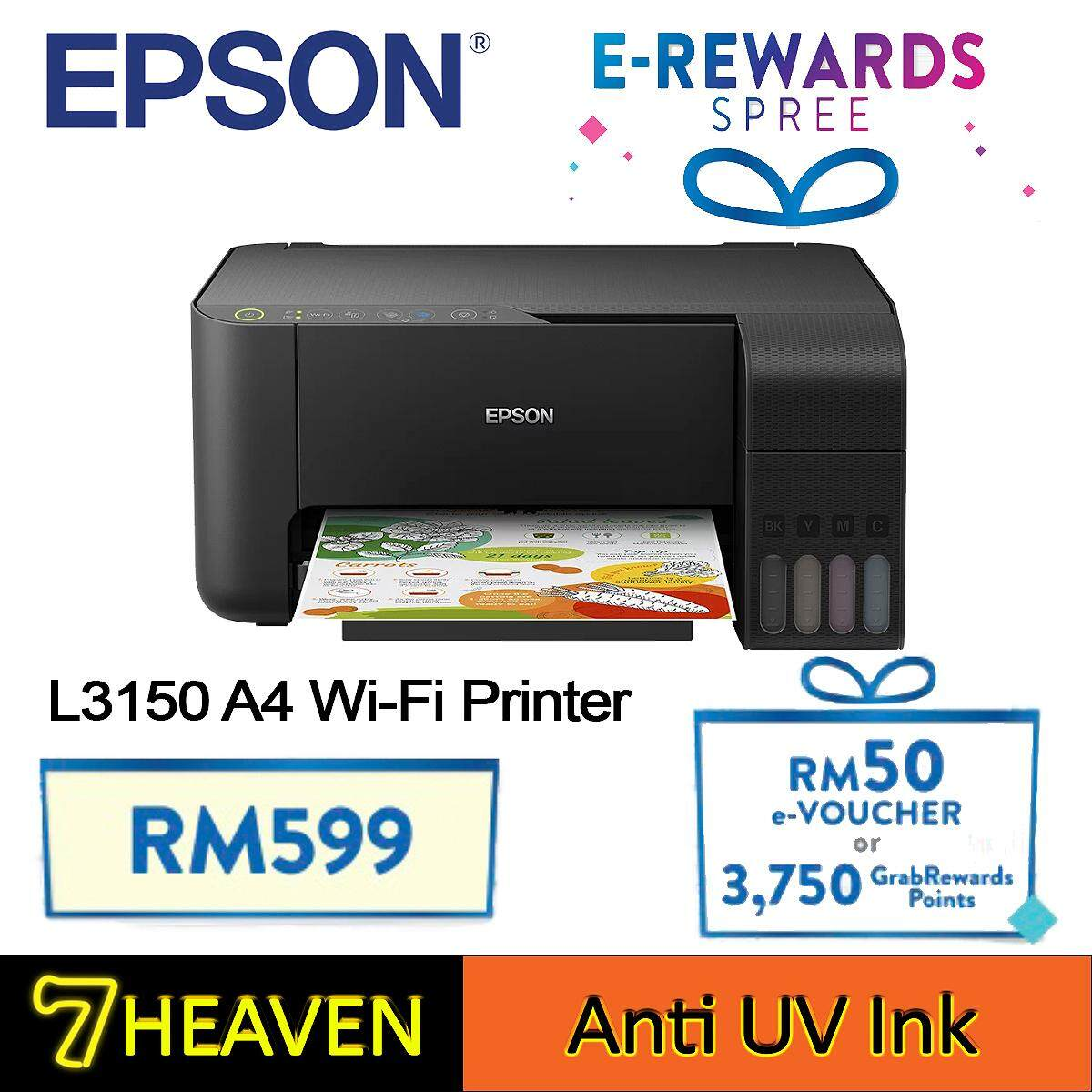 Epson EcoTank L3150 Wi-Fi All-in-One Ink Tank Printer with Anti UV Ink  Similar to L405 G3010 T510w