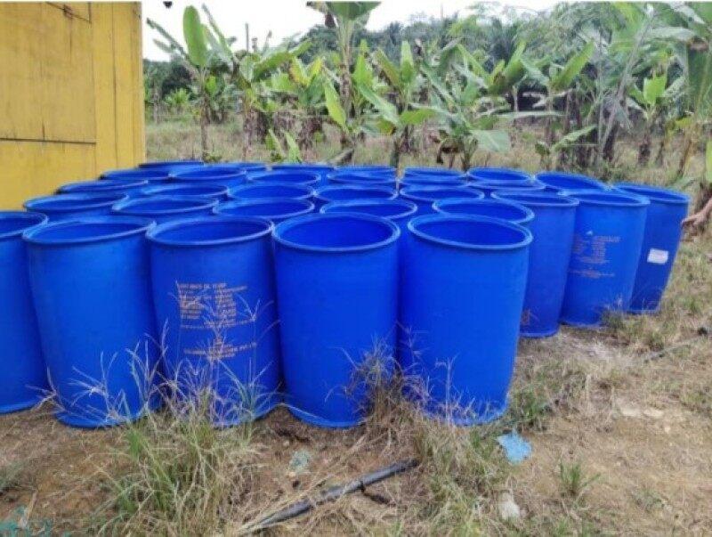 Malaysia Stock Tong Drum Plastik/Tong Air 200 Liter / Blue Drum Plastic / Bekas Tong