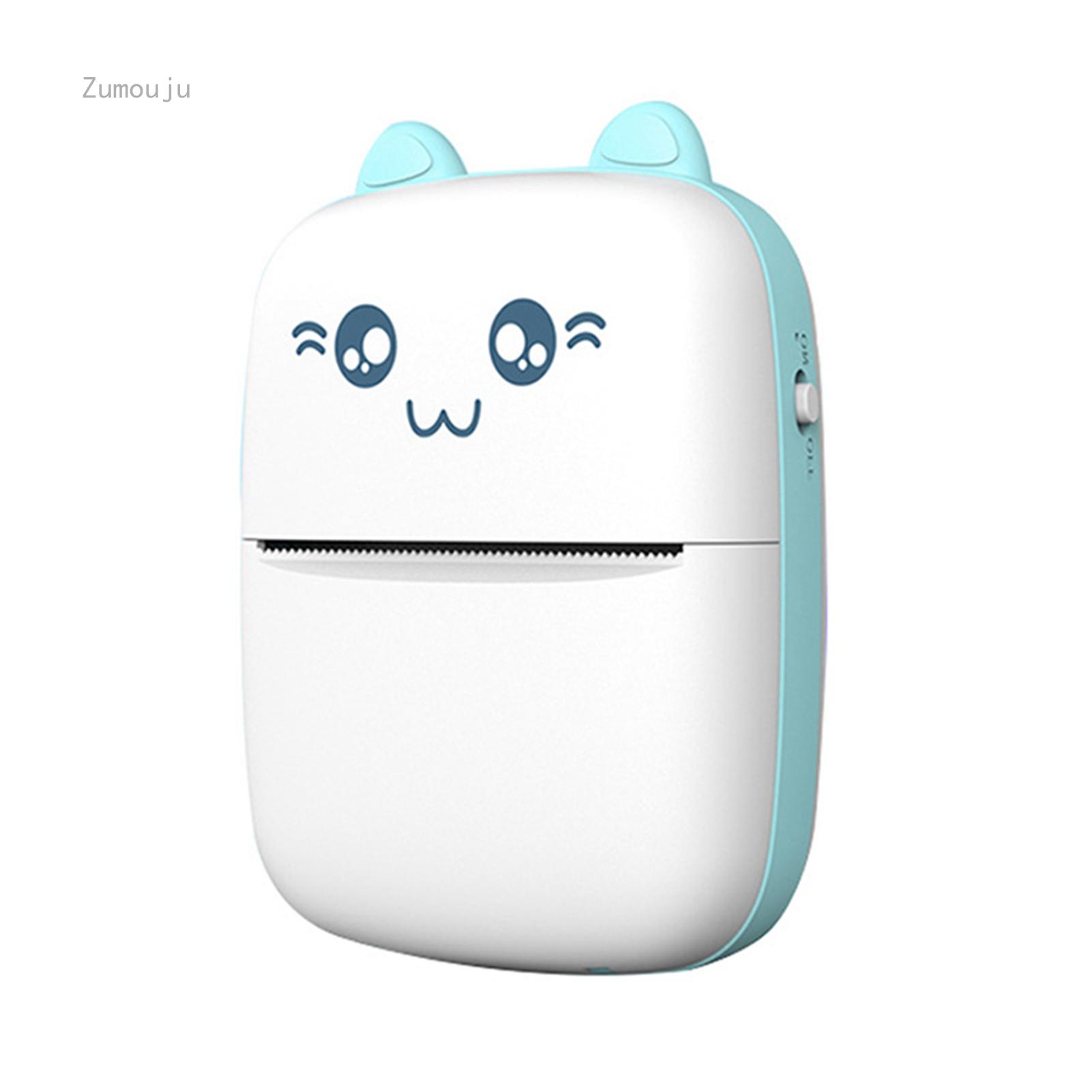 Máy In Nhãn Nhiệt USB Kết Nối Bluetooth Máy In Mini Cầm Tay Máy In Câu Hỏi Bỏ Túi Điện Thoại Di Động Cho Học Sinh/ Giấy In