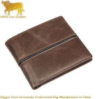 อิตาลีของแท้หนังวัวกระเป๋าสตางค์ใบสั้นสำหรับชายคลิปบัตรธุรกิจแฟชั่นลำลองกระเป๋าสไตล์ยุโรปกระเป๋าถือ Man-
