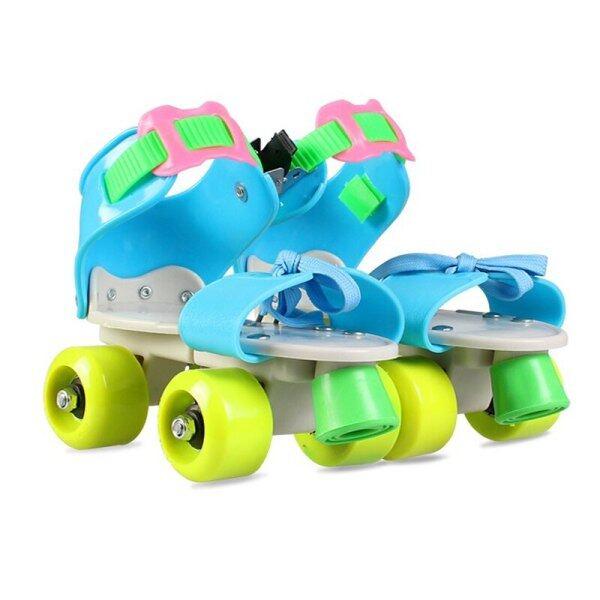 Giá bán Trẻ Em Có Thể Điều Chỉnh Giày Bánh Xe Trượt Hai Hàng 4 Bánh Giày Trượt Băng Trượt Giày Trượt Patin Một Hàng Bánh Trẻ Em Quà Tặng Giày Sneaker Con Lăn