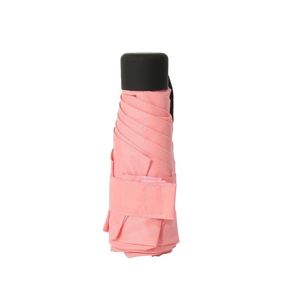 Lightnice Mini Bỏ Túi 5-Gấp Gọn Vải Dù Nắng Mưa Ô Gấp Ngược Nhỏ Mặt Trời Lớp Lót Dù