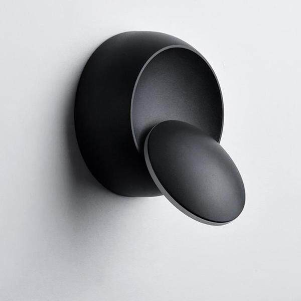 LED Wall Lamp 360 Degree Rotation Adjustable Bedside Light White Black Lamp