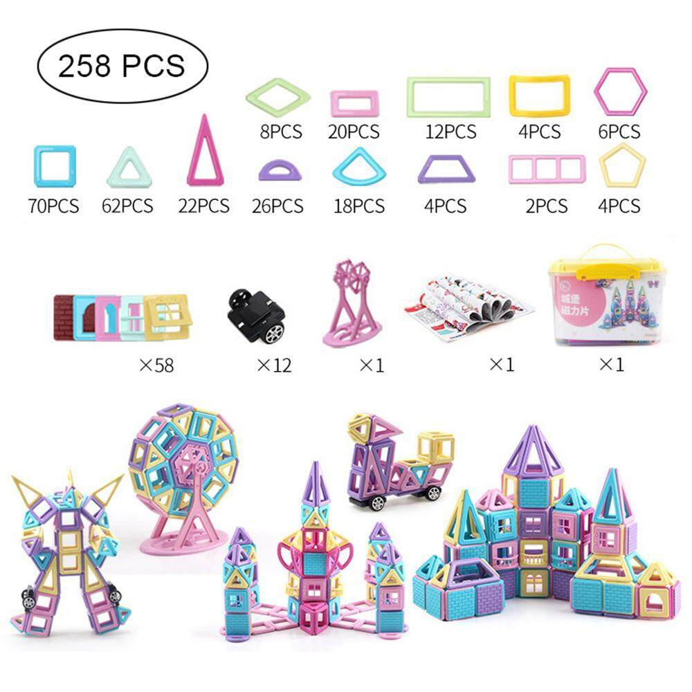 O-Toys 38pcs Car Magnet Toys Kids Building Blocks Truck Magnetic Toy 3D DIY Education Learning Construction Play Set Gift for Boys Toddlers Girls