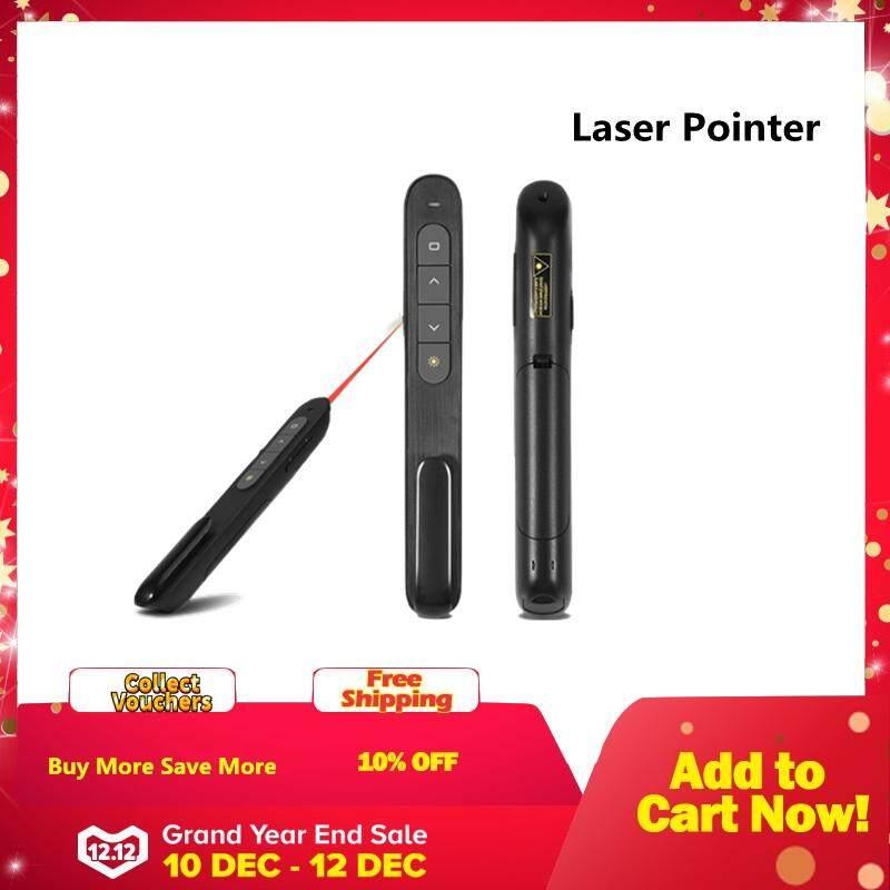Justgogo 2.4 USB Nirkabel GHz Power Point PPT Pengendali Jarak Jauh Pena Balik Presentasi Laser Pointer Pena Klik-Intl