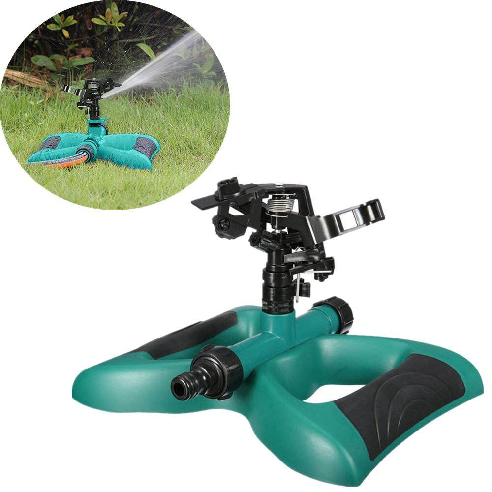 360° Lawn Circle Rotating Water Sprinkler 3 Nozzle Garden Hose Irrigation Tool